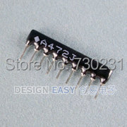 Free Shipping One Lot 50pcs Network Resistor 560 ohm 9 Pin Bus A09-561(China (Mainland))