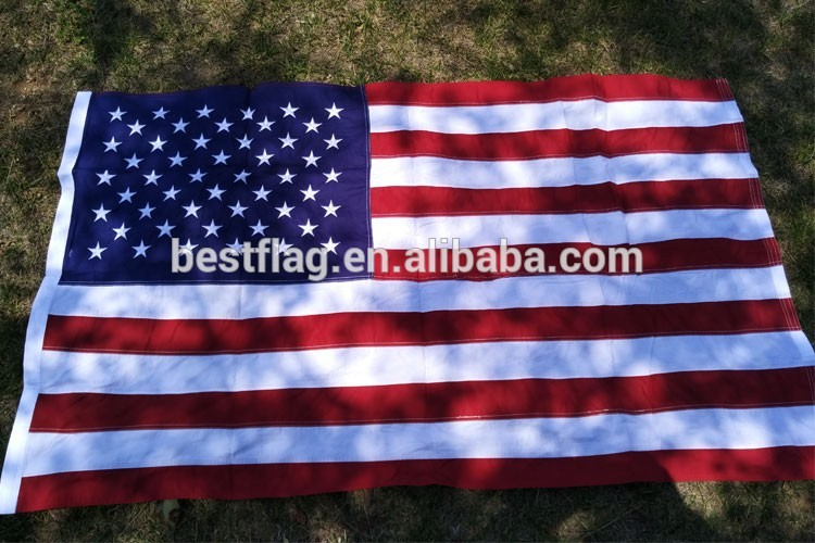 American Embroidered flag national flag outdoor banner flag(China (Mainland))