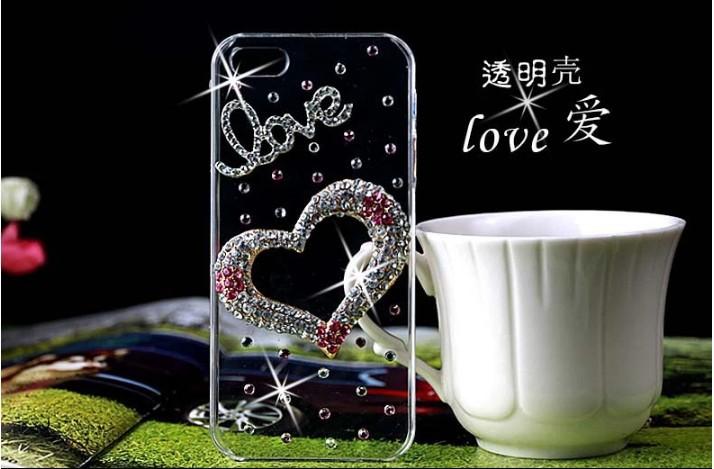2014 New Rhinestone Diamond Case Back Cover Skin Transparent Protector Sony Xperia E3 / Dual D2203 D2206 D2243 - merry Qu's store