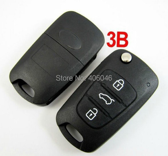 uncut blade 3B Kia Sportage Remote flip Key fob Shell replacement,folding flip remote key case cover for Kia(China (Mainland))