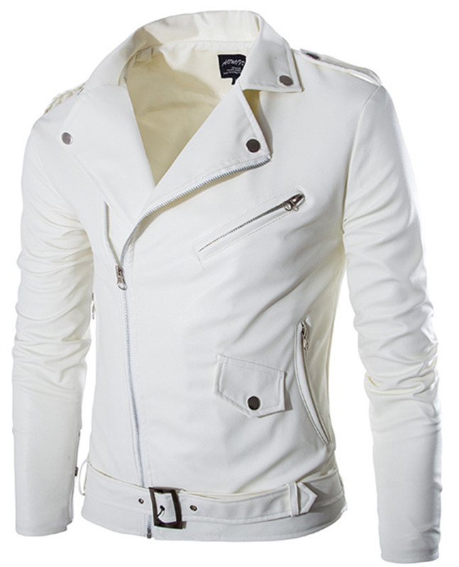 White Mens Jacket - Coat Nj