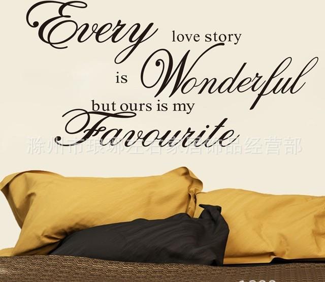 Каждый история любви домашнего декора на стены ZooYoo8145 декоративные adesivo де parede съемный виниловые наклейки
