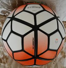 The 10th Premier League 15-16 Soccer ball football with original brand logo TPU size 5 anti-slip ball bola de futebol(China (Mainland))