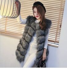 New 2015 Winter Coat Women Fashion Import Overcoat Whole Peel Fox Fur Vest High-Grade Cappa Fur Coat Leisure Shitsuke Women Coat(China (Mainland))