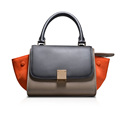New Arriving Women Classic Leather Messenger Bags Cute Bat Wing Pattern Leather Handbags One Shoulder Bag