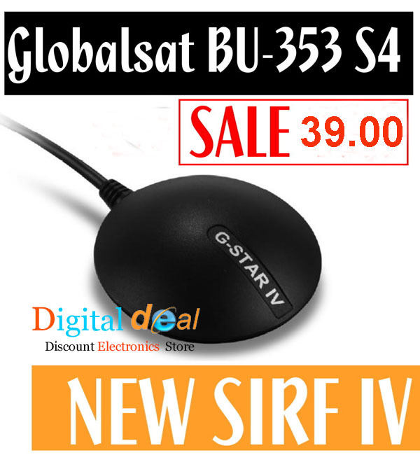 GlobalSat BU-353S4 USB GPS Receiver SiRF Star IV 48 Channel For PC And Laptops Portable GPS(China (Mainland))