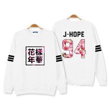 Bangtan Boys Kpop BTS Women Hoodies Sweatshirts Letter Printed in J-HOPE 94 and SUGA 93 Women xxxl Hoodies  JUNG KOOK 97(China (Mainland))