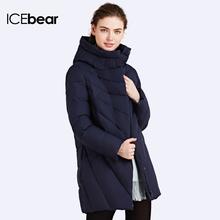 ICEbear 2016 Зимняя Куртка для Женщин Био-Пух Мягкий Пальто Куртка С Капюшоном Шинель Пуховик пошит стильно Теплый капюшон Женские зимние куртки и пальто Отличном качестве Верхняя одежда16G6219(China (Mainland))