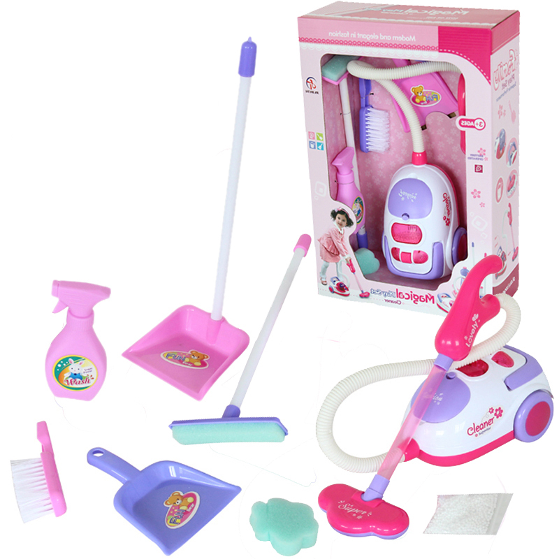 Free shipping Chirstmas gift for children Cleaning tool toy vacuum cleaner Cleaning Kit Play house toys kids toy cleaning set(China (Mainland))