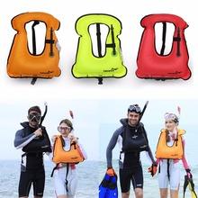 2016 New Snorkeling Gear Inflatable Adult Life Jacket Life Vest Swimwear Free Shipping Lifejacket  (China (Mainland))