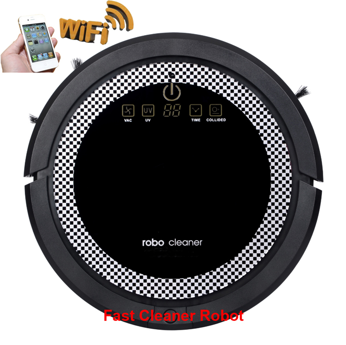 Newest Strong Suction Power Wet And Dry Robot Vacuum Cleaner With WIFI Smartphone App Control,Water Tank,3350mAH Li-ion Battery(China (Mainland))