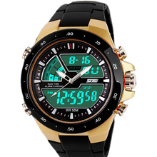 men's military watch sports watches 2 time Quartz Analog Digital Watch LED Outdoor Dress dive Military Watch relogios masculinos