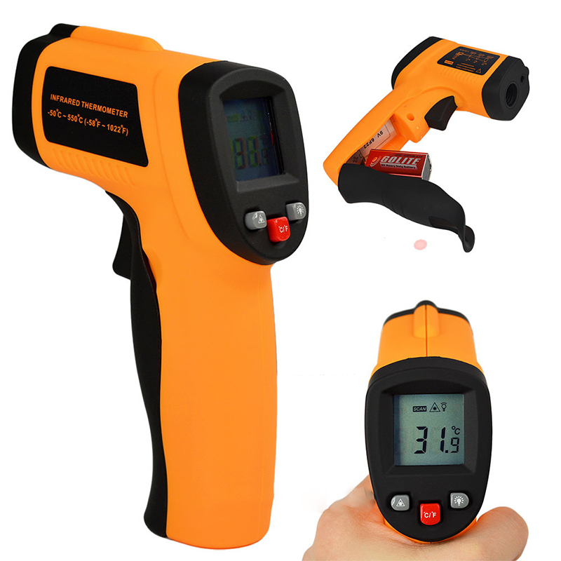 2016 Hot Sale GM550 Digital infrared Thermometer Pyrometer -50 to 550 Degree Aquarium laser Thermometer Outdoor thermometer(China (Mainland))