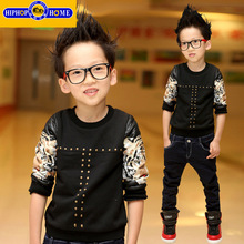 2016 Cashmere Kids Boys Hoodie Boys Winter Sweatshirt Boys Pullover Tops Shirts Tiger Pattern Children Hoodies Kids Clothes(China (Mainland))