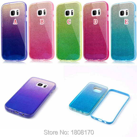 Bling Glitter TPU Case For Samsung Galaxy S7 Edge J2 J5 J7 J710 PC Fashion Blue Ray Shiny Sticker Mirror Cell Phone Skin Cover(China (Mainland))