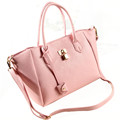 fashion handbags retro candy colored casual laptop bag big European and American style shoulder bag platinum
