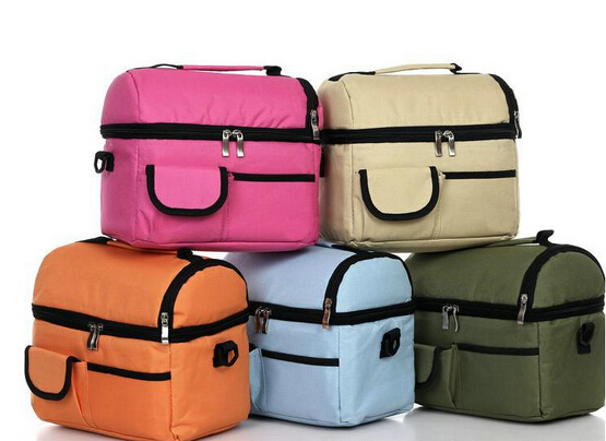 V-COOOL 2014 new Double layer thickening ice pack insulation bag cooler bag lunch bag candy colors children's lunch bags(China (Mainland))
