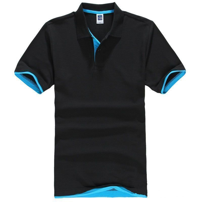 Brand Solid Color Men Short Sleeve Golf Polo Shirt 2016 New V-neck Summer Casual Men Sport Cotton Polo Shirts(China (Mainland))