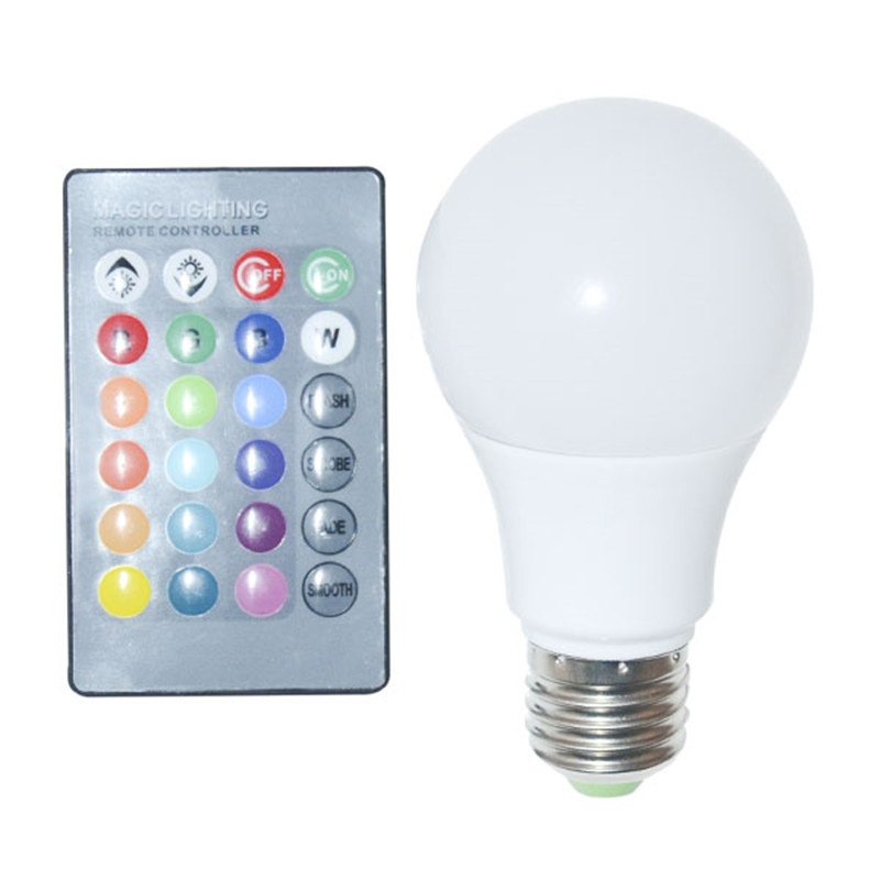 2015 New E27 RGB LED Bulb 10W 30W LED RGB Lamp Remote Control RGB LED Light RGB 16 Color Changing 360 Degree Dimmable 85-265V(China (Mainland))