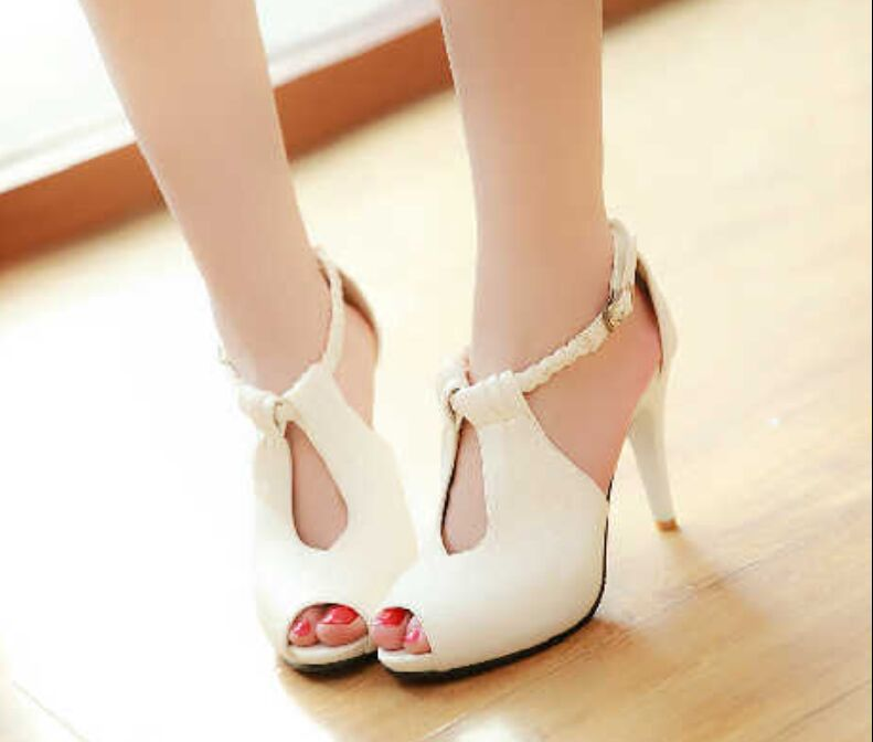summer new high heeled shoes fish waterproof sandals
