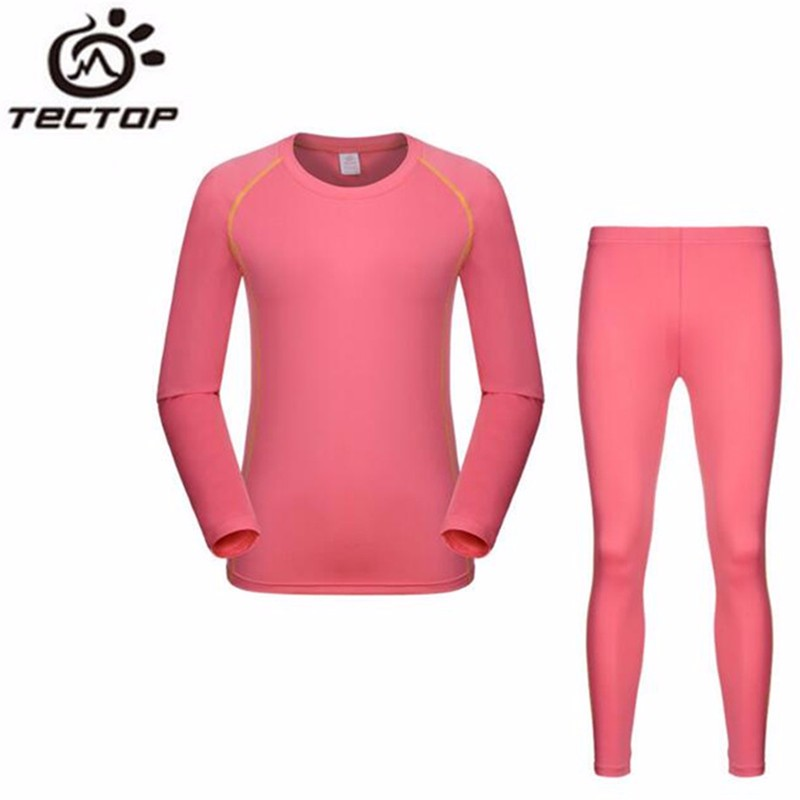 TECTOP New Outdoor Quick Drying Warm Thermal Underwear Suits Long Johns Fitness Sports Stretch Sweat Underwears For Men Women<br><br>Aliexpress