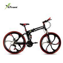 Buy Original X-Front Brand 26 inch aluminium folding bike frame mountain bicycle 21 24 27 speed disc brakes One wheel MTB bicicleta for $363.87 in AliExpress store