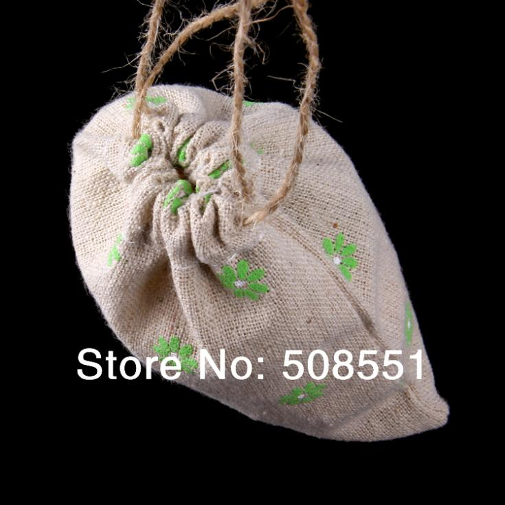 Free shipping New Vintage Rustic flower linen Wedding Favor Bags made in China(China (Mainland))
