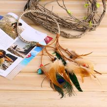 Fashion Festival Feather Headband Hippie Headdress Hair Accessories Boho new(China (Mainland))