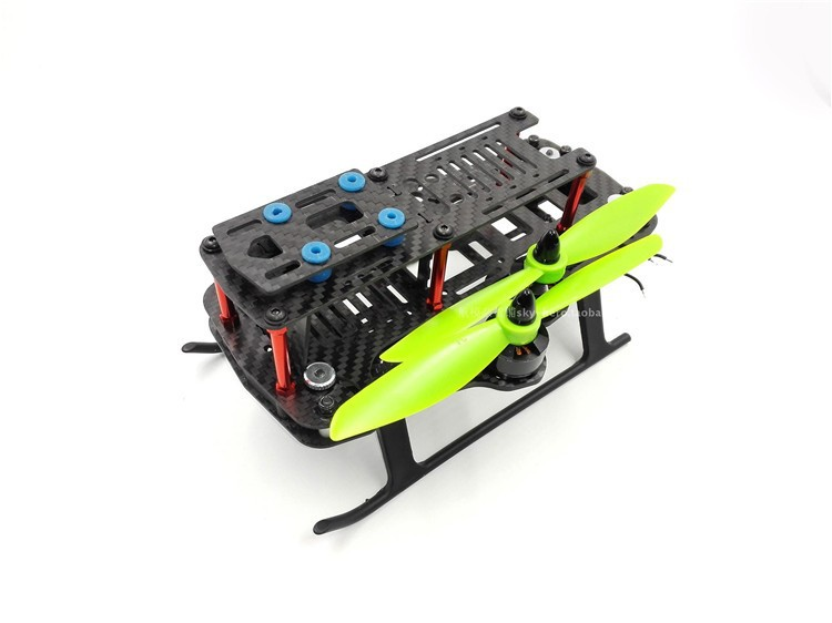 DIY FPV mini drone GE260Z quadcopter folding frame unassembled 260mm Wheelbase pure carbon fiber