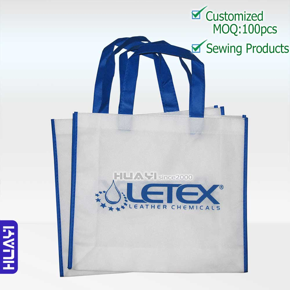 Customized 1 color Logo Printing gift bag eco friendly Reusable non woven Shopping bags - HUAYI AD-Commodity Factory Store store