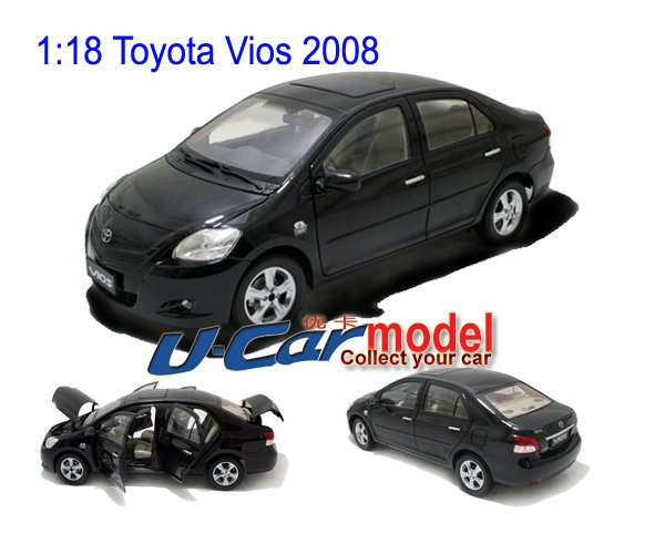 1 pcs/lot 1:18 TOYOTA Vios 2008 die-cast Model Car (on sale) Black(China (Mainland))