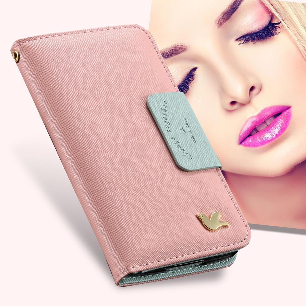 Fashion Fly Bird PU Leather Case For Apple IPhone 4 4S 4G Luxury Card Holder Phone Bag With Mirror Strap Cover For iphone 4S(China (Mainland))