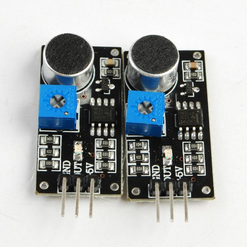 2Pcs Voice Sound Detection Sensor Module Arduino