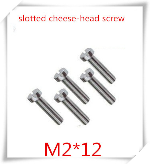 100pcs/lot High Quality stainless steel 304 m2*12 slotted cheese head screw  /slotted round head screw<br><br>Aliexpress
