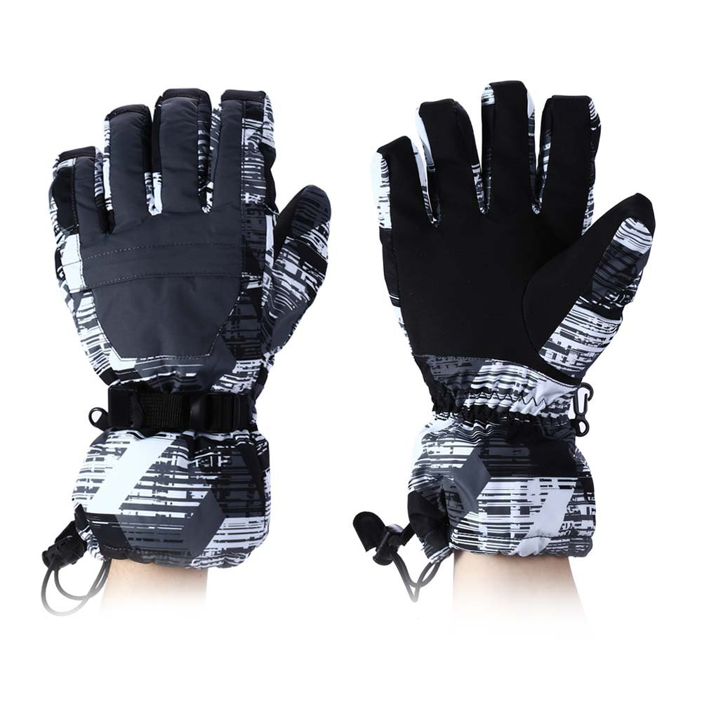 Winter Print Ski Gloves with Water Resistant Windproof Warm Cotton Thick Skiing Suit For Men And Women A16901860(China (Mainland))