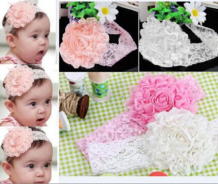 3 Colors New Style Beautiful Headband Hairband Baby Girls Flowers Headbands Kids' Hair Accessories Baby Christmas Gift A009(China (Mainland))