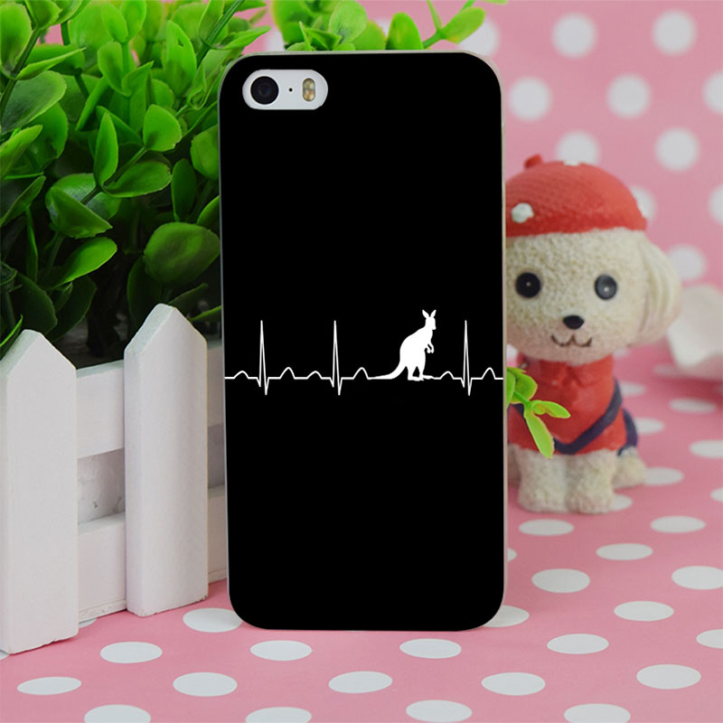 B0233 Australia In My Heartbeat Transparent Hard Thin Case Cover For Apple iPhone 4 4S 5 5S SE 5C 6 6S 6Plus 6s Plus(China (Mainland))