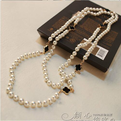 2016 new arrival women luxury brand designer Necklaces fashion handmade pearl runway Jewellery gold party jewelry gifts C165(China (Mainland))