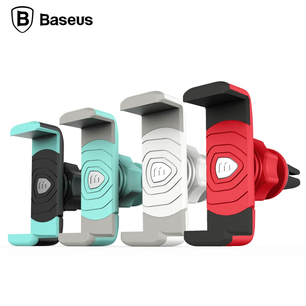 Fashionable Car Phone Holder Baseus Adjustable Mini Shield 360 Degree Rotation Car Air Vent Mount Holder Cradle For Smart Phone(China (Mainland))