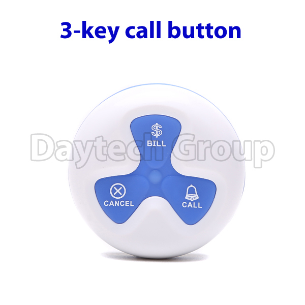 Wireless Service Calling System pager call systems call buttons three key call button(China (Mainland))