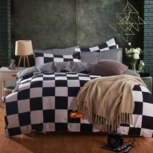 Hot Sale Modern Luxury Bedding Sets Wedding Bed Set Linen Bedclothes Duvet Cover Set in white black #30-1(China (Mainland))