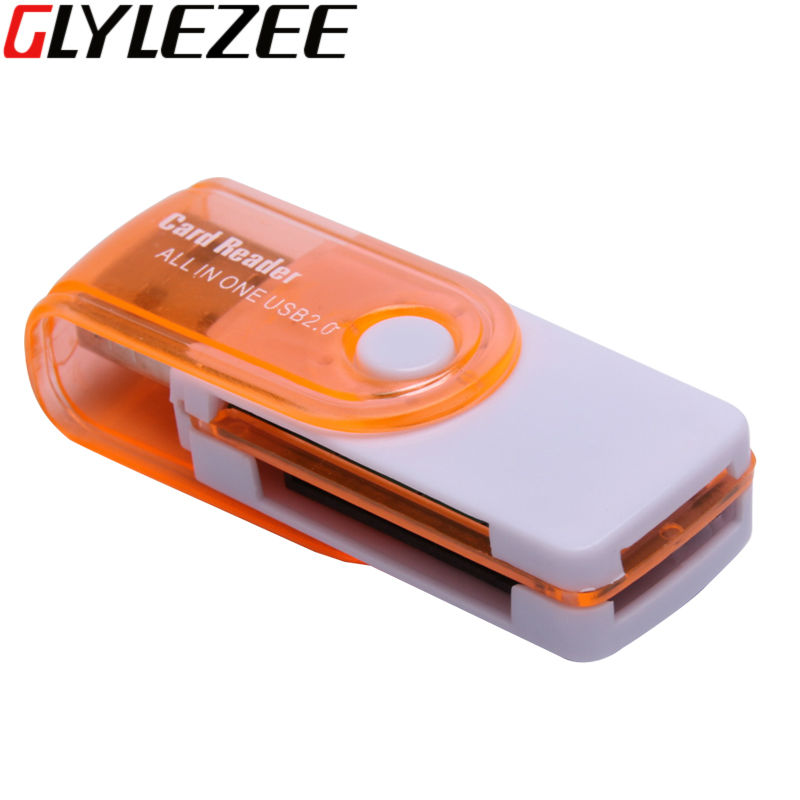 Glylezee All in 1 Multi-Function USB Card Reader 4 in 1 SD TF MS M2 Memory Card Smart Reader for Desktop Laptop(China (Mainland))