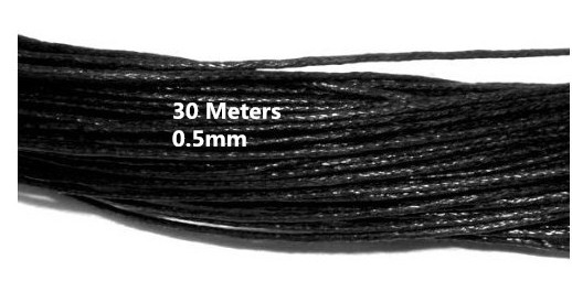30Meters 0.5mm Black Waxed Cotton Cord String For bracelet Necklace DIY Jewellery Making Cord AE01202(China (Mainland))