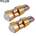 WLJH 2pcs Universal Canbus Car LED Lamp Bulb W5W T10 LED 3014SMD Interior External Light For