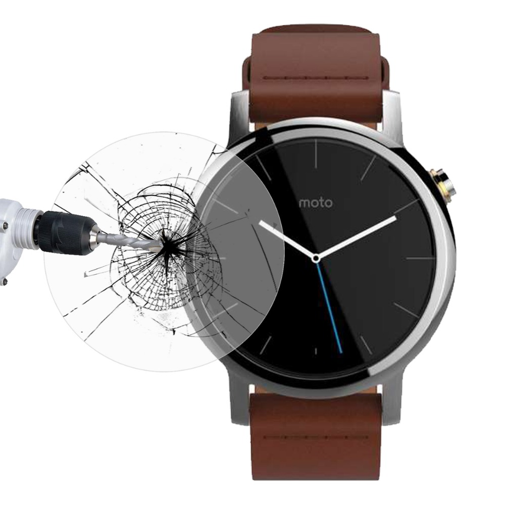 Premium Glass Film 0.2mm Real Tempered Glass Screen Protector For Smart Wtach Moto 360 II 2nd Gen 42mm Original Packaging(China (Mainland))