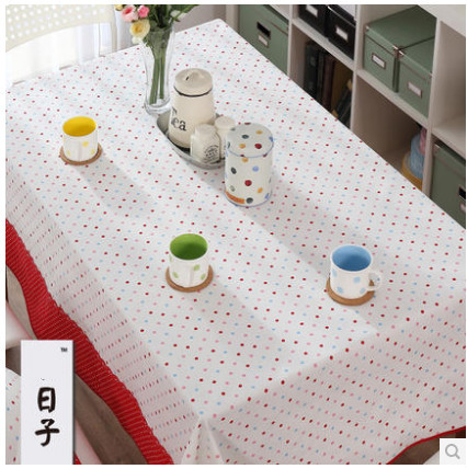 New high-grade rural cotton table , tea ,round table cloth, Sweet dot design makes your dinning room bright(China (Mainland))