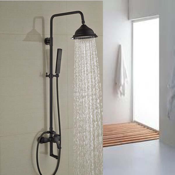 Luxury Oil Rubbed Bronze Shower Faucet Set Mixer Tap 8 Rain Shower Head