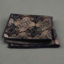2016 New Fashion Handkerchiefs Paisley Striped Dot Pocket Square Leisure Style Towel Hanky for Mens Suit Wedding Accessories