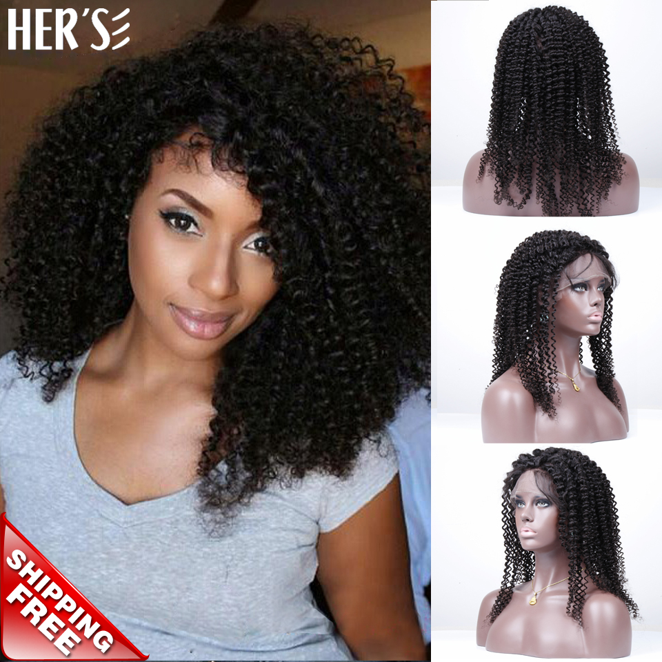 Фотография Human Hair Lace Front Wigs Black Women Full Lace Human Hair Wigs Kinky Curly Wig,Cheap Brazilian Full Lace Wig With Baby Hair