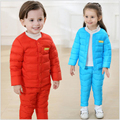 Autumn Winter Children Clothing Sets Cotton Padded Jacket Pants warm suits Baby Girls Boys Clothes Outfits